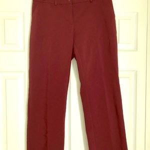 Wine Red Bootcut Dress Pants
